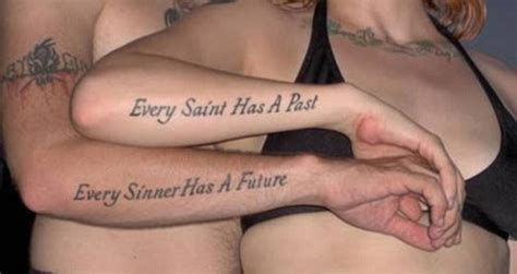 short couple tattoo quotes what were you inking the embarrassing matching tattoos