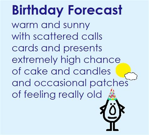 Birthday Forecast   A Funny Poem. Free Funny Birthday Wishes eCards   123 Greetings