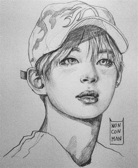 V Drawing Jimin by Bts Fanart V By Nonconman Bts Fanart