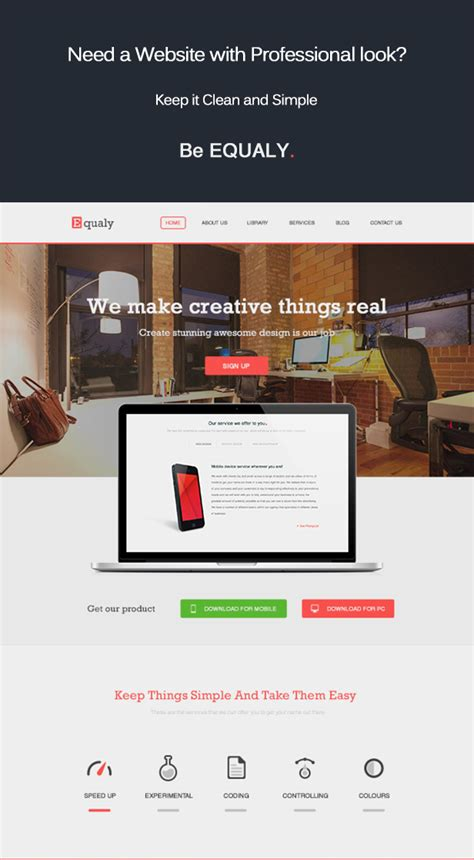 themes compatible with visual composer equaly professional business wordpress theme by victheme