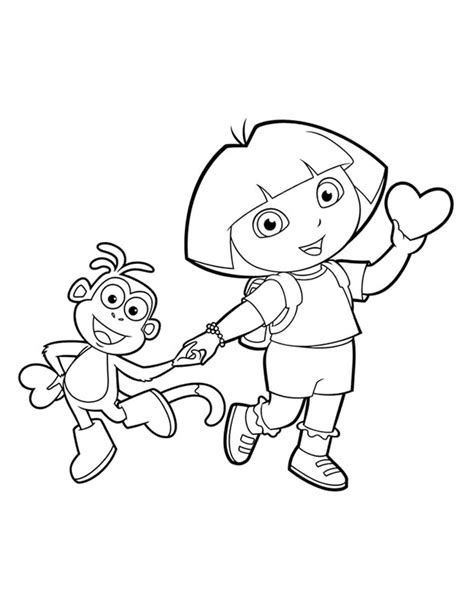 dora valentine coloring pages dora coloring lots of dora coloring pages and printables