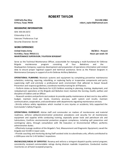Security Clearance On Resume Sle