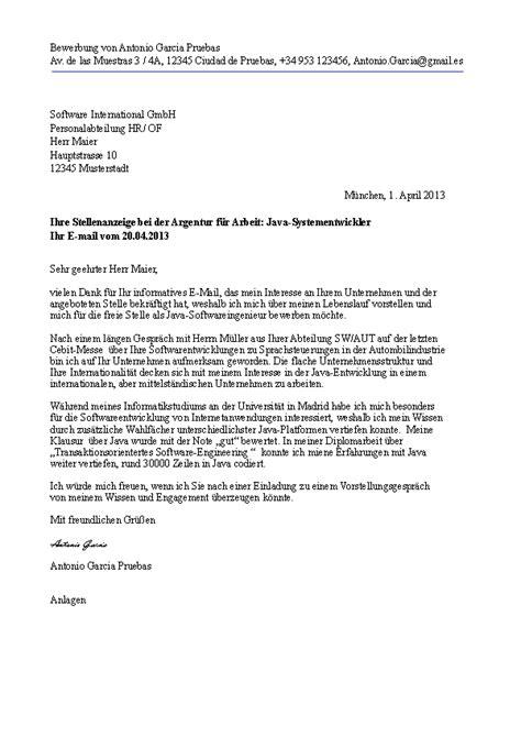 carta de empleo ejemplos solicitud preparar una carta de solicitud de trabajo aleman