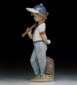 Spanish porcelain baseball figurine can i play lladro 7610 figurines