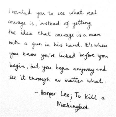 To Kill A Mockingbird Scout Courage Quotes