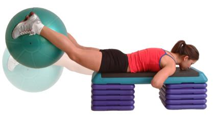 swiss ball buttock  glut exercises