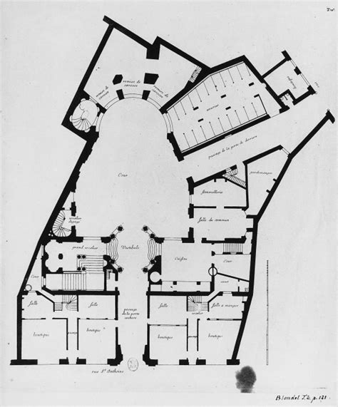 plan drawings a a plans drawings hotel de beauvais