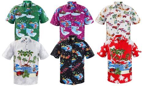 christmas themes clothing men s hawaiian christmas shirts groupon
