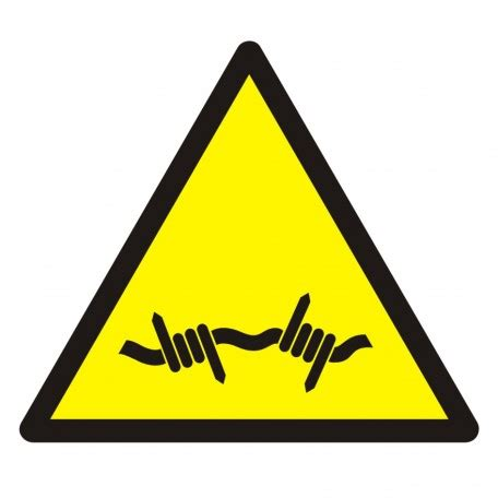 warning; barbed wire. sign gdw033 tdc®