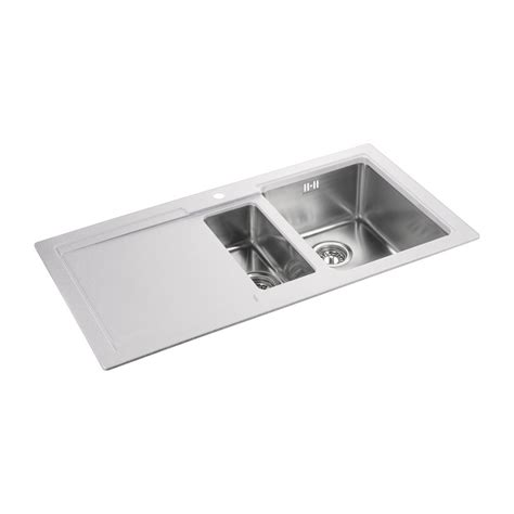 Rangemaster Cubix Sink rangemaster cubix gemini sink 1 5 bowl handed in a choice of colours
