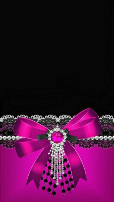 wallpaper pink bow pink and black glitter wallpaper 55 images