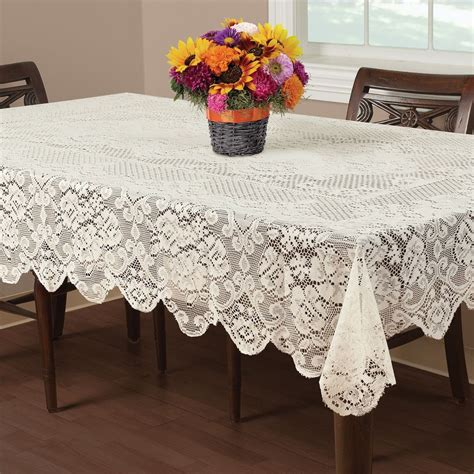 table cloth buckingham lace tablecloth ivory 60x102 quot wedding floral