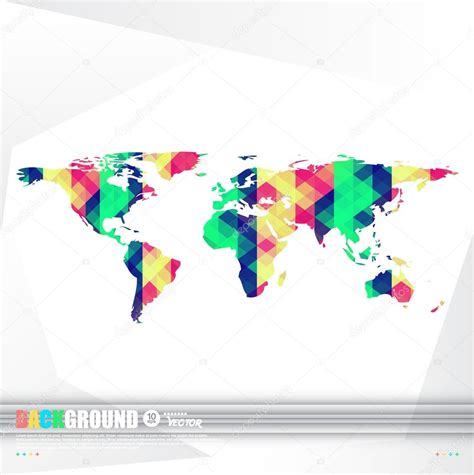 World Origami - world map background in origami style stock vector