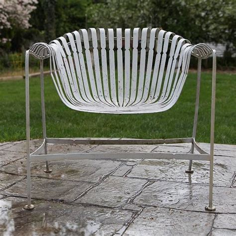 Rare Russell Woodard Sculptura Wrought Iron Outdoor Garden Woodard Wrought Iron Patio Furniture
