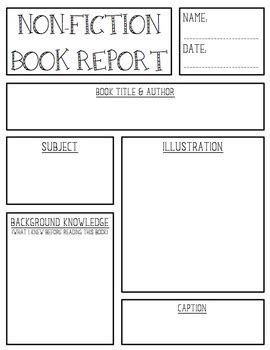 nonfiction book report non fiction book report create teach