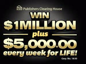 win 1 million pch publishers clearing house sweepstakes