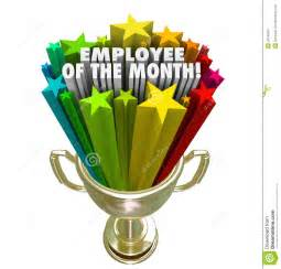 Employee of the month gold trophy award top performer recognitio stock