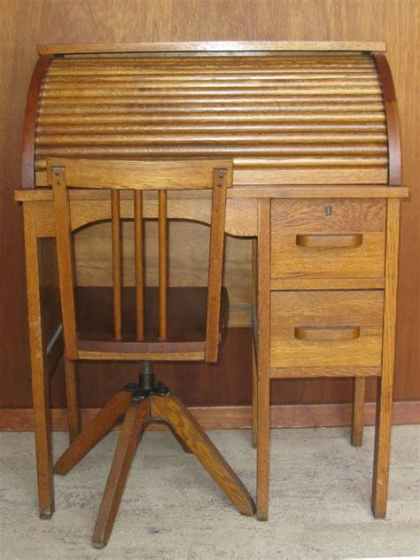 childs roll top child s roll top desk and chair vintage hostgarcia