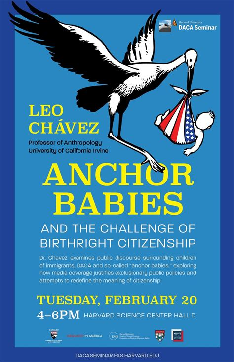 anchor babies birthright citizenship and the 14th amendment harvard daca seminar leo chavez anchor babies the