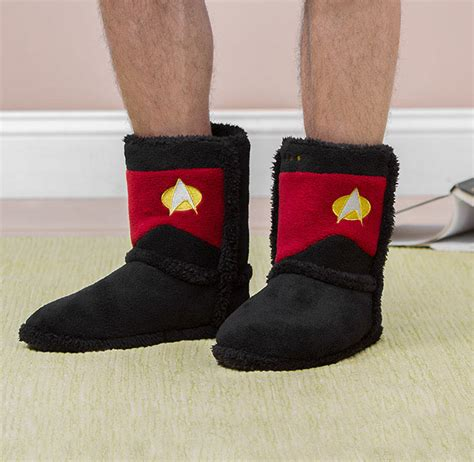 trek slippers trek tng boot slippers warm me up scotty technabob