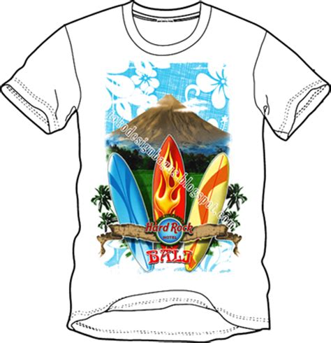 design grafis bali surfing bali hardrock desain kaos desain t shirt