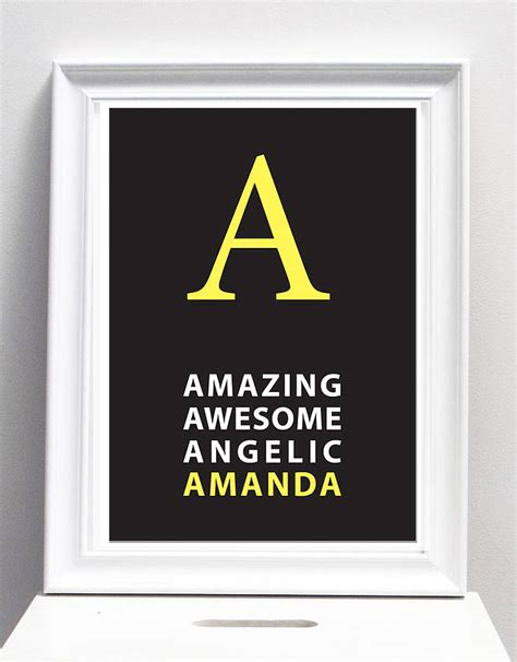 poster design name initial name poster or canvas personalised canvas or
