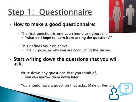 Create A Questionnaire - how to do a survey