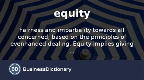 what is equity definition and meaning