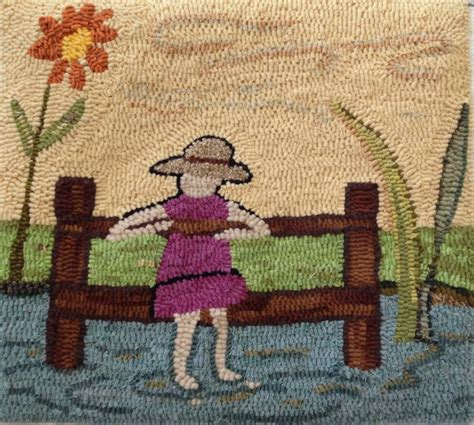rug hooking linen hooked rug pattern quot the day dreamer quot pattern on linen rug patterns embroidery and rug hooking
