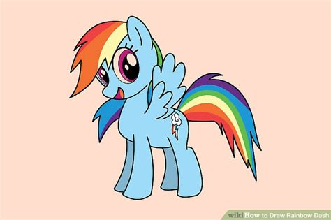 The Easy Way To Be A Dashing 2 by 4 Ways To Draw Rainbow Dash Wikihow