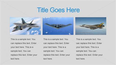 Three Tiles Military Air Force Powerpoint Slide Slidemodel Air Powerpoint Template