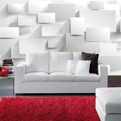 bedroom tv size free shipping 3d stereo promenade mural wallpaper white