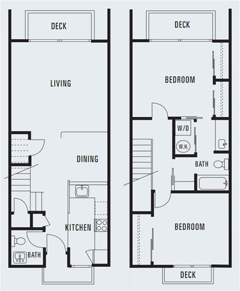 delightful 3 bedroom townhouse plans #2: 614-Sycamore-Two-Bedroom-Townhouse-1284-Square-Feet.jpg