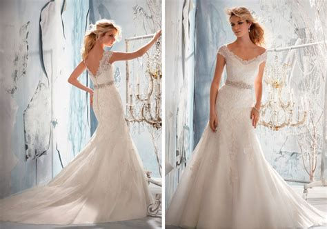 above delicate lace hand beaded with hundreds of glass beads soft 2014 bridal gown collections from mori lee
