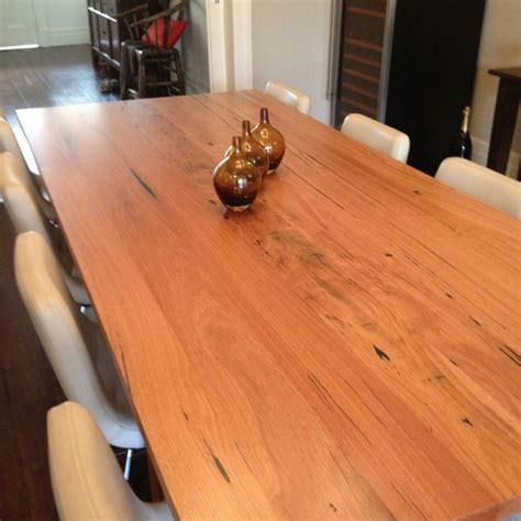 dining table leg placement custom made blackbutt solid timber dining table 2 75 x 1 2