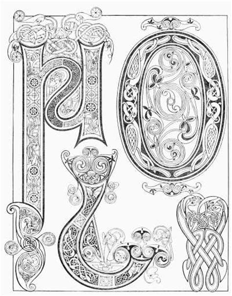 book of kells free coloring pages