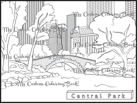 download central park coloring page