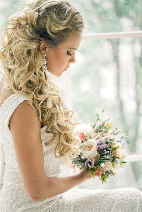 Wedding Hairstyles Half Up Half Wavy by 15 Half Up Half Bridal Hair Hairstyles Haircuts
