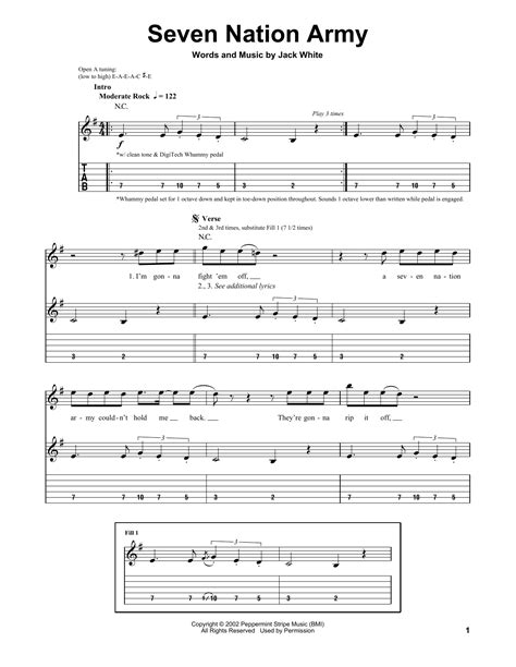 drum tutorial seven nation army white stripes seven nation army sheet music