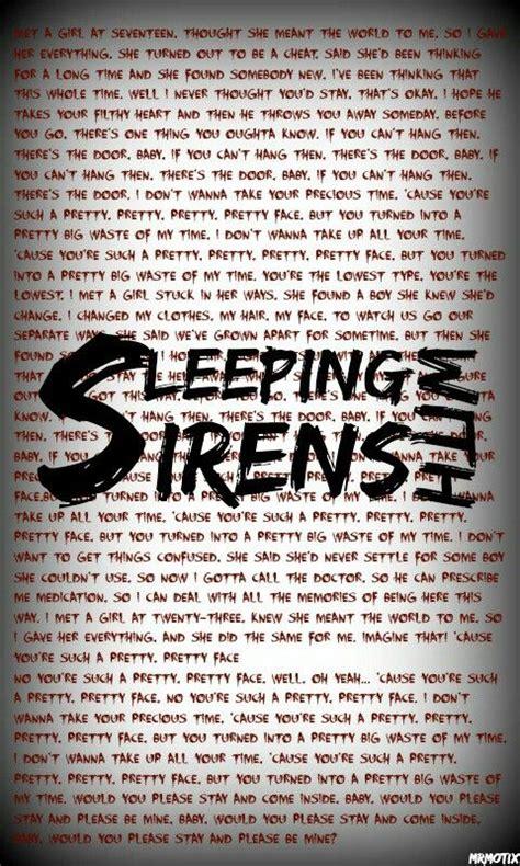 Sleeping With Sirens Feel Iphone All Hp sleeping with sirens lyrics wallpaper www imgkid