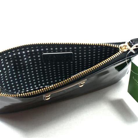 Kate Spade Chrissy Patent Clutch by Kate Spade Zippered Chrissy Pasadena Black Patent Leather