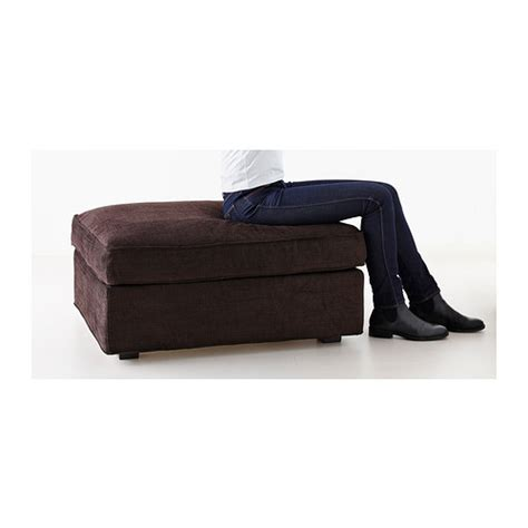 kivik ottoman with storage isunda brown ikea kivik footstool with storage tullinge dark brown ikea
