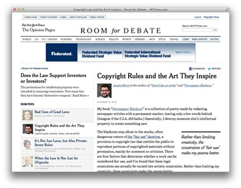 ny times room for debate new york times on turning constraints into artistic constraints