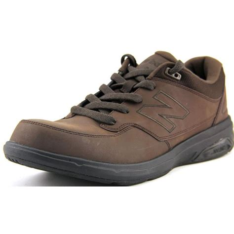 mens leather athletic shoes new balance new balance mw813 leather brown walking