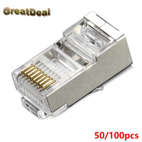 Cat 6 Rj 45 Connector By aliexpress buy 50 100pcs new rj45 connector cat5