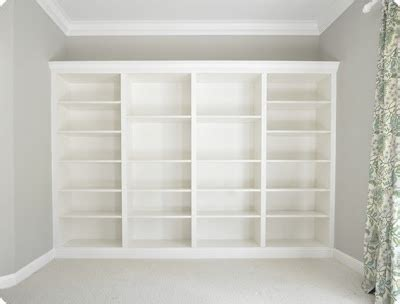 faux built in bookshelves built in bookcase build it for storage