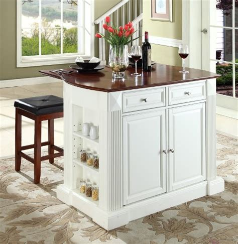 white kitchen island with drop leaf drop leaf kitchen islands