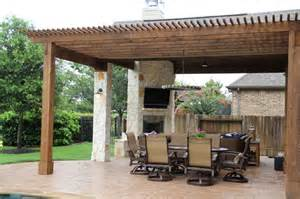 Cheap Large Outdoor Rugs Outdoor Living Project Patio Cover With Fireplace Pergola And Outdoor Kitchen Traditional
