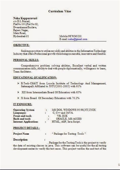 How To Write Project Work In Resume