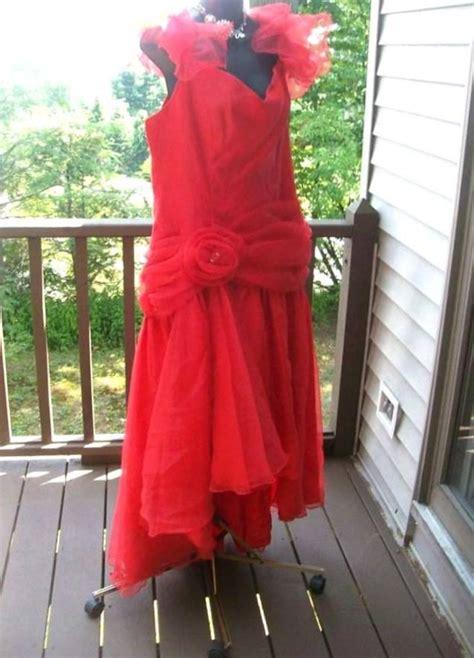 80s Prom Dress Bachelorette Vintage Satin Lace Kotaksurat